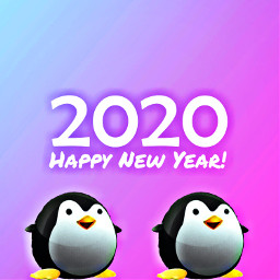 freetoedit penguin 2020 newyear cute