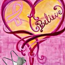 freetoedit pink ribbon bra believe