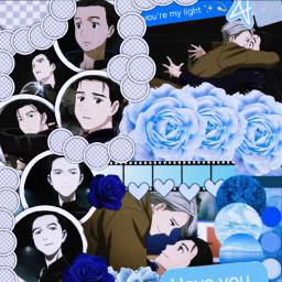 yurionice katsukiyuri victornikiforov victuri anime freetoedit
