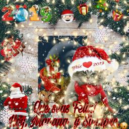 freetoedit felizañonuevo navidad santa santaclause ircholidaywallpaper