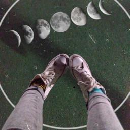 freetoedit moon circle legs night