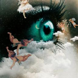 picsartedits clouds angels eyeart freetoedit