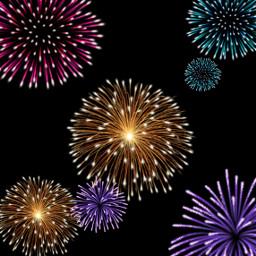 freetoedit background happynewyear fireworks