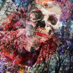 darkart collage juxtaposition dark doubleexposure