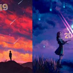 happynewyear bye2019 2020 stars night freetoedit srcnewyear2020 newyear2020