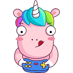 stickervk party unicorn game freetoedit