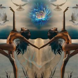 freetoedit @chuliluna19 chicas palomas aves