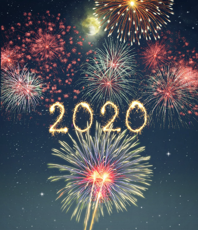 🖤Happy new year🖤 🎆☄👋  #freetoedit #happynewyear #2020 #newyear #fireworks #lights #sky #celebration #festive #newyear2020 #love #picsartedit #madewithpicsart