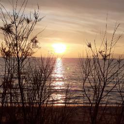 sunset sea landscape atardecer autumn