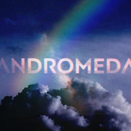 freetoedit andromeda galexy rainbow sky