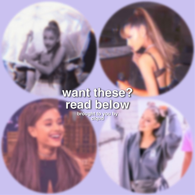 """free filtered ari pfp pack giveaway!  rules in order to win: be following @editingisland @hopefulgrande and @peachesnbibbles (and me iffu want lol) like and repost this comment your user and your user ONLY        ex. """"@clqud"""" and thats pretty much it!  but comment fast! i am going to do a random drawing and will only put 5-10 names in!   idk this seems fun and i might do this of another celeb lmao  have fun and good luck!    { btw the winner will be announced on a post but will be given the pfp through dms }   adios lol 💗"""