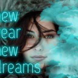 freetoedit newyear blue dreams
