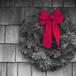 freetoedit colorsplasheffect wreath redbow usedtutorial