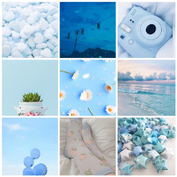 blue collage aesthetic photography freetoedit ccblueaesthetic blueaesthetic