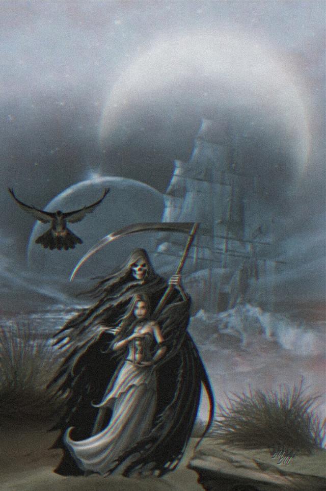#freetoedit #editbyme #darkness #darkart #skull #madewithpicsart #art #artwork #moon