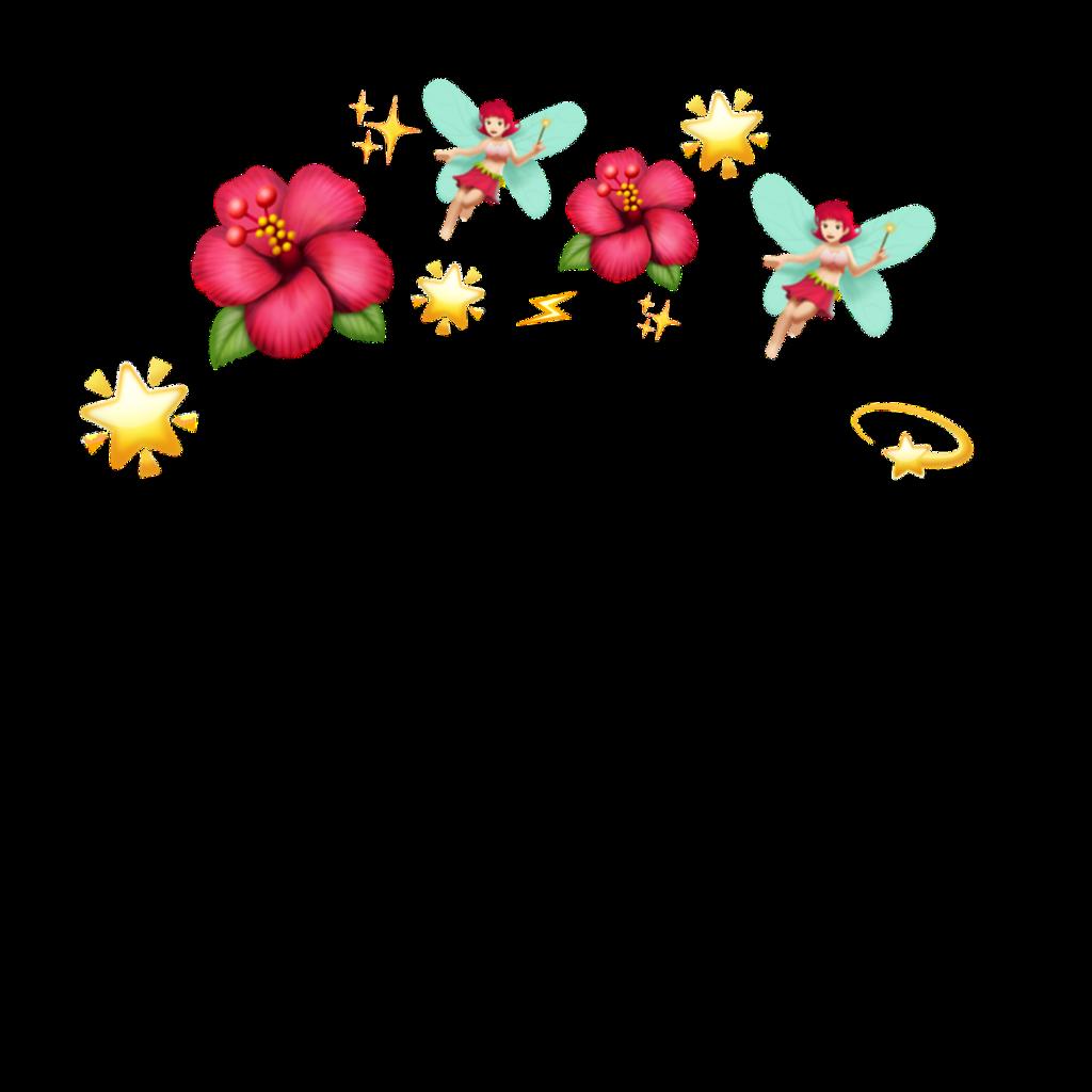 #стикер #цветочки #ободок #эмоджи