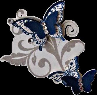 #butterflies #crafts #diy #gems #blue #grey #gray #white #freetoedit