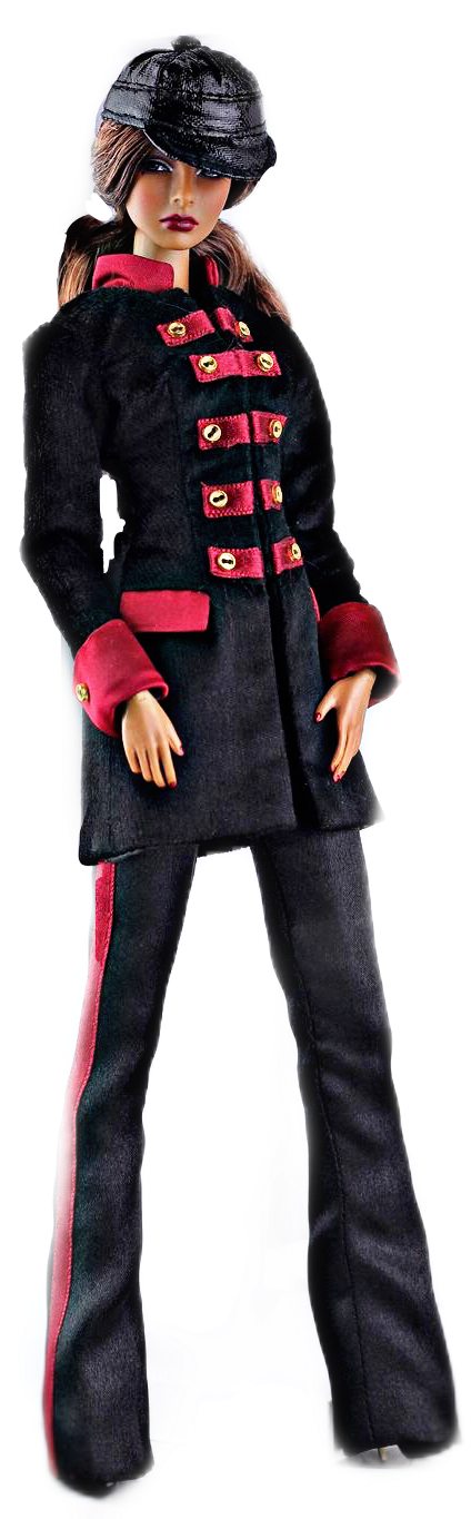 #standing #tall #hat #coat #jacket #model #doll #toy  #brunette #girl #remixit #freetoedit