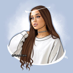 outline outlines arianagrande arianagrandeoutline aesthetic freetoedit