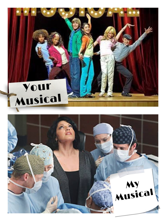 I swear, the only musical I've watched unless that episode of Miraculous Ladybug counts.  #greysanatomy #greys #anatomy #greysanatomylover #greysanatomyfanart #yourmy #your #my  #freetoedit