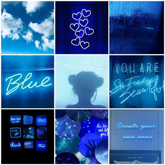 Stay Blue 💙 #madewithpicsart #blue #moodboard #picsart