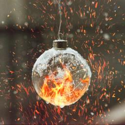 freetoedit fire christmas decoration bulb