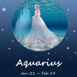 freetoedit deep water aquarius girl eczodiac