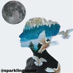 freetoedit dove forest moon ircelegantsilhouette elegantsilhouette