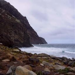 freetoedit tenerife sea rocks clouds