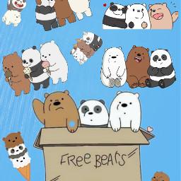 freetoedit bears barebears panda polarbear