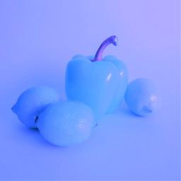 freetoedit pepper lemon onecolor blue