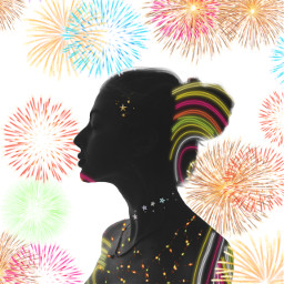 freetoedit fireworks fuochidartificio lady