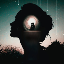 freetoedit myedit girl silhouette doubleexposure