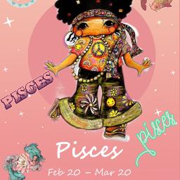 freetoedit zodiac pisces hippy beautiful eczodiac