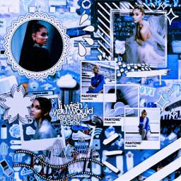 ariana arianagrande blue blueaesthetic arianagrandeaesthetic freetoedit ccblueaesthetic