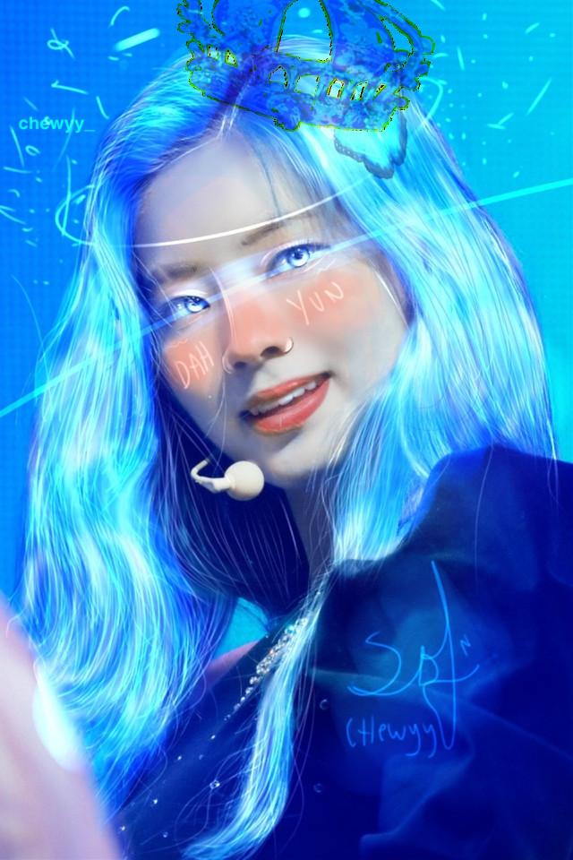 🦋 ; dahyun edit. – IBIS PAINT X. #dahyun #twice #ibispaint #twicedahyun #kimdahyun #lighting #highlight #blue #bluedahyun #edit