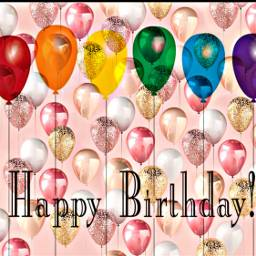 freetoedit remixed balloons happybirthday text