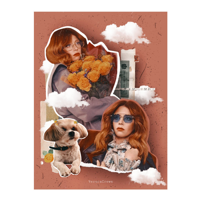 """Natasha Lyonne and Rootbeer!!! Go and watch 'Russian Doll"""", if you haven't already.. 😀 #vintage #collage #collageart #paperart #fanart #photoart #natashalyonne #rootbeer  #freetoedit"""