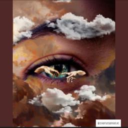freetoedit eyes aesthetic clouds remix