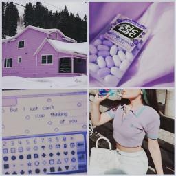 freetoedit purple purpleaesthetic snowy vintage