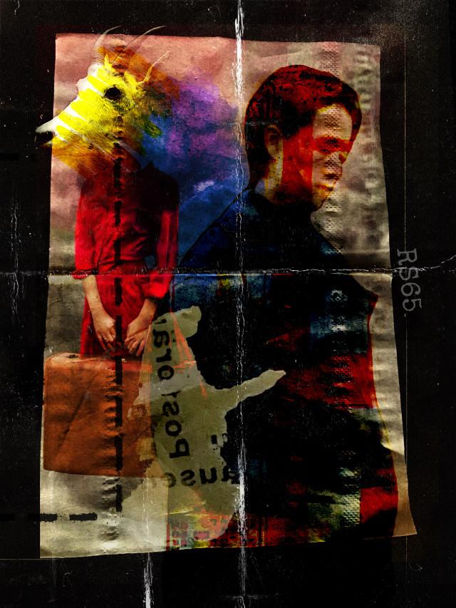 #freetoedit #dust #art #collage  #fakefriend #departure