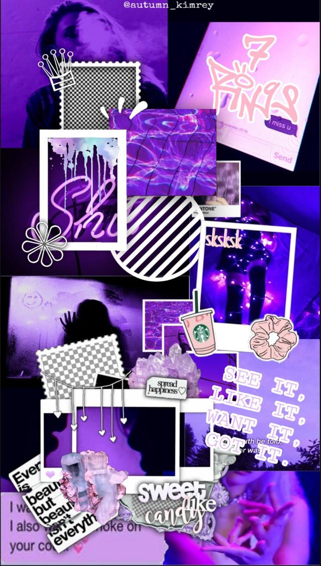 I made this edit 3 days ago. I hope u like it!💜💜💜 #freetoedit #purple #aesthetic #background #7rings  #sevenrings #arianagrande #vsco #ilikeit #iwantit #igotit #iseeit #collage #pink