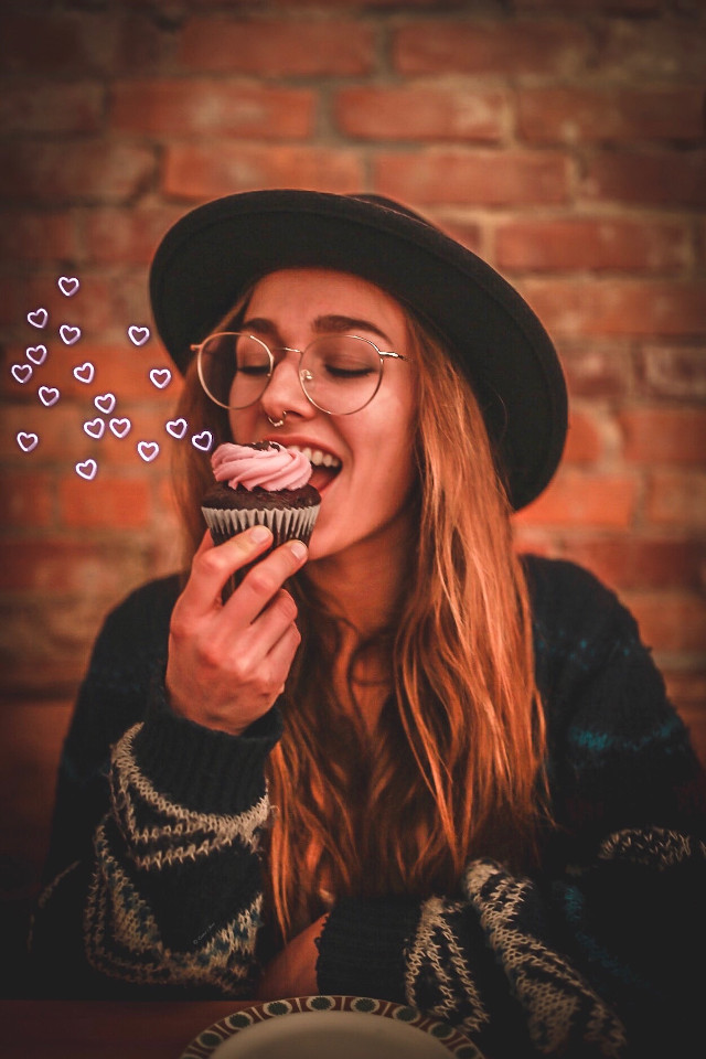 #portrait #girl #woman #cupcake #hamilton #canada #bakery #cute #hearts #neon #love #delicious #interesting #art #photography #travel #madewithpicsart #editedwithpicsart #simple #portraitphotograpgy  #freetoedit