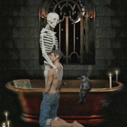 freetoedit editbyme darkness darkart skull
