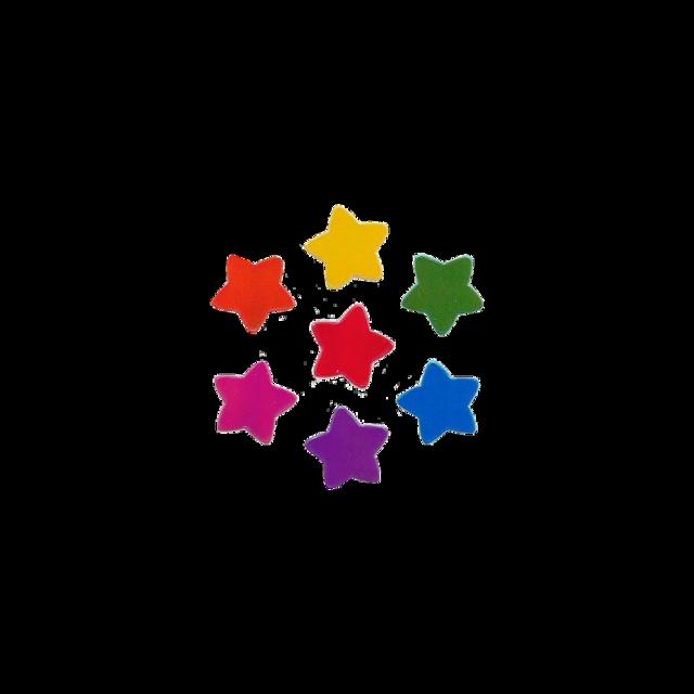 #messy #stars #rainbow