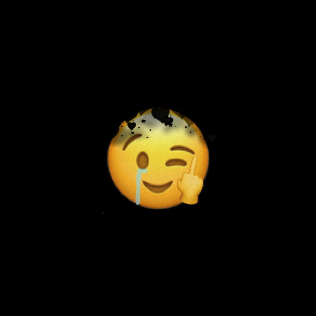 Hey! Fuck you! #emojiiphone #emoji #black #yellow