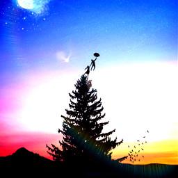freetoedit flyaway marypopins tree magicmoon