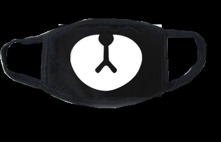 #pandamask #mask #maskface #maskmouth #trend #sticker #antifaz #blackmask #stickers #freetoedit