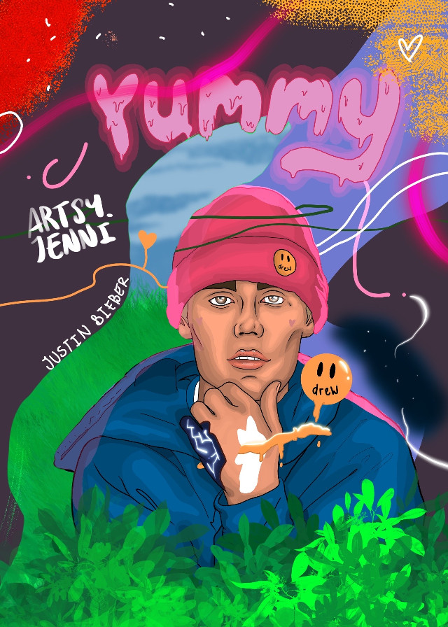 Justin Bieber  #yummy #justinbieber #music #poster #art #procreate #freetoedit