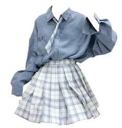 nicheoutfit outfit blueaesthetic schoolgirl blueoutfit freetoedit